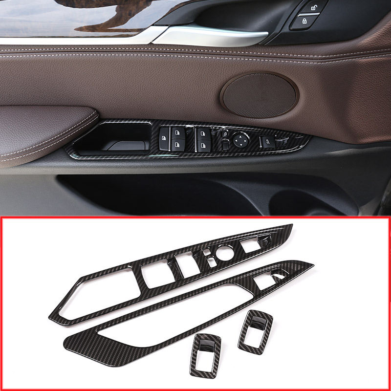 Carbon Fiber Look Front Middle Console Air Vent Trims For 2016-2019 Honda Civic