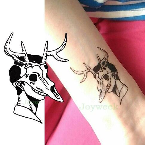 Impermeable Etiqueta Engomada Del Tatuaje Temporal De Calavera De