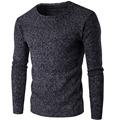 Dark grey 2017 New Autumn Winter Brand Clothing Sweater Men Slim Fit Winter Pullover Men Solid Color Knitted Sweater Men