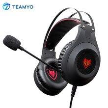 Teamyo N2 On Ear Headphones Super Bass Stereo HiFi Headphone with Mic Volume Control Headsets For Mobile Phone PC/PS4/Xbox Gamer