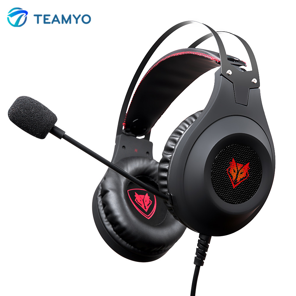 Teamyo N2 Computer Stereo Gaming Headphones Earphones headset gamer for Mobile Phone PS4 Xbox PC Headphone with mic Earbuds image