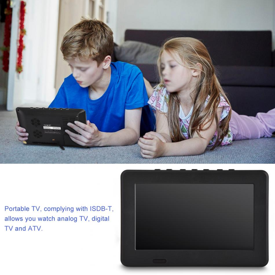 LEADSTAR ISDB-T 7 Inches TV 16:9 HD Rechargeable Digital Color Car TV Mini Television Player Digital Analog Television 1080p