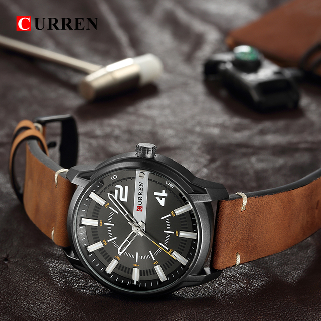 CURREN Men's Luxury Military Male Quartz Watches 5