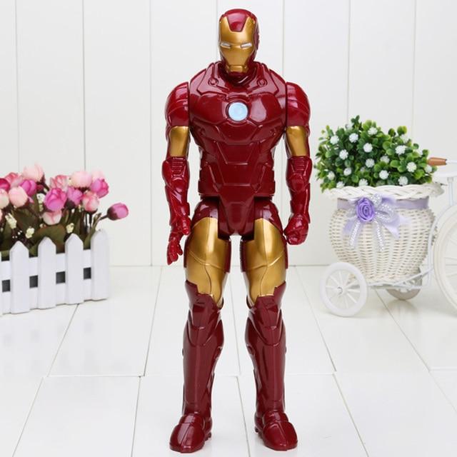 Homem de ferro Filme Spiderman 30 CM PVC Iron Man Figuras de Ação Toy Figuras de Ação