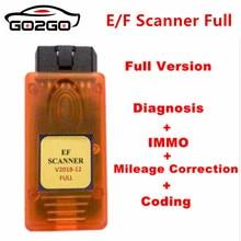 V2018.12 для BMW E/F сканер II Полная версия для BMW Диагностика + IMMO + коррекция пробега + кодирование E F сканер