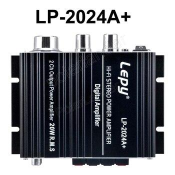 LP-2024A+ Hi-Fi mini car amplifier Power home amplifier 12V Digital Stereo Amplifier 2*20W 2CH Output