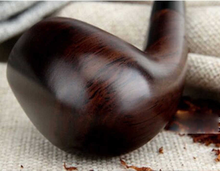 Image 4 - 16 Tools 9mm Filters Classic Handmade Natural Wood Smoking Pipe Set Smoke Tobacco Ebony Wooden Smoking Pipe F508y-in Tobacco Pipes & Accessories from Home & Garden