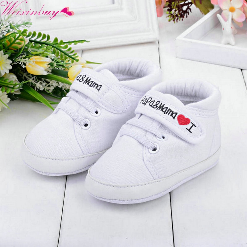 0-18M Baby Mocassins Infant Kids Boy Girl Soft Sole Canvas First Walker Toddler Newborn Shoes
