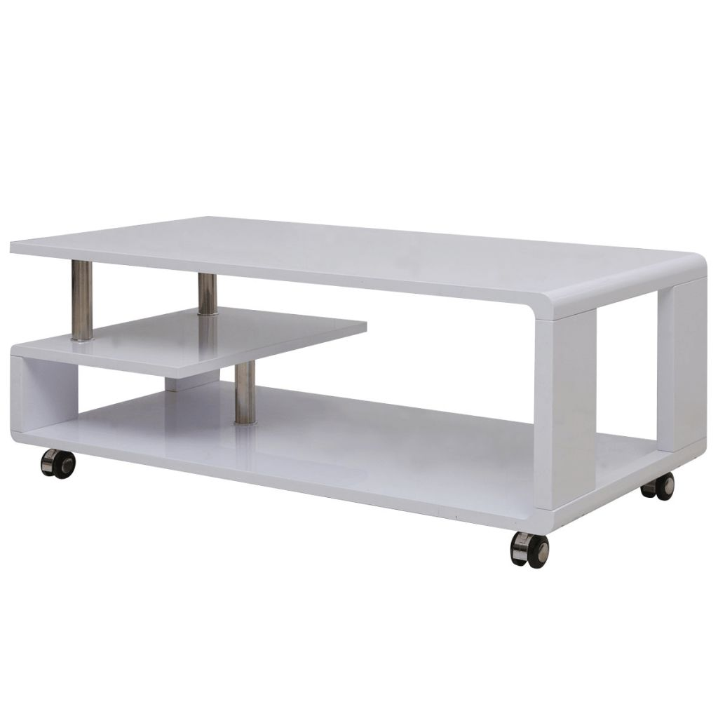 Vidaxl High Gloss Coffee Table White: VidaXL High Gloss Coffee Table White-in Coffee Tables From