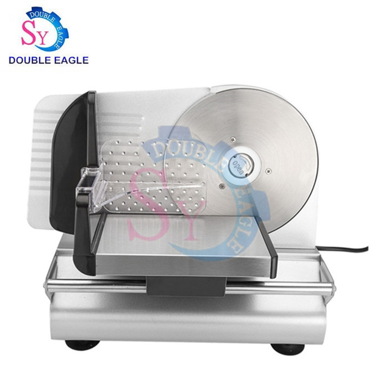Home Use Mini Automatic Electric Frozen Meat Slicer Cutting Machine Ham Sausage Chilled Beef Lamb Potato Slice Toast Cutter 150W