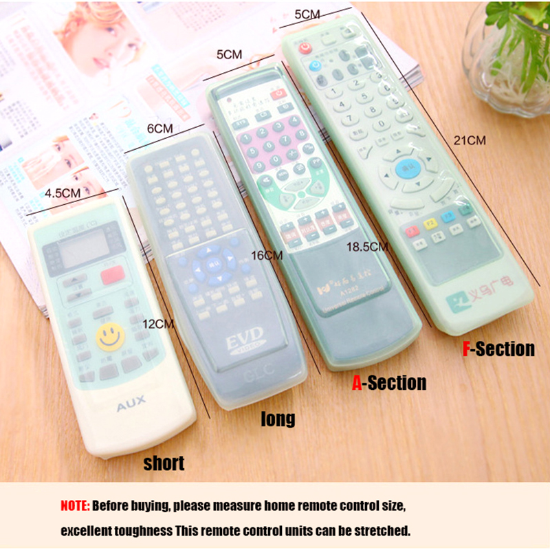 VEAMOR 10pcs/set Transparent Silicone Protective Sleeve Air Conditioner Remote