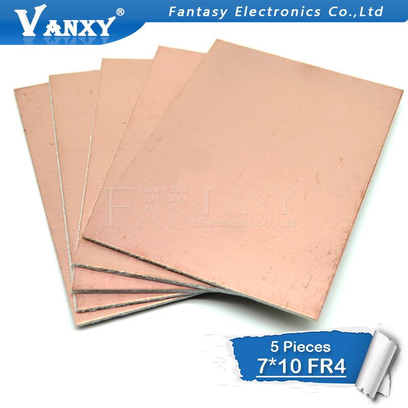 5pcs FR4 PCB 7x10cm 7*10 Single Side Copper Clad Plate DIY PCB Kit Laminate Circuit Board
