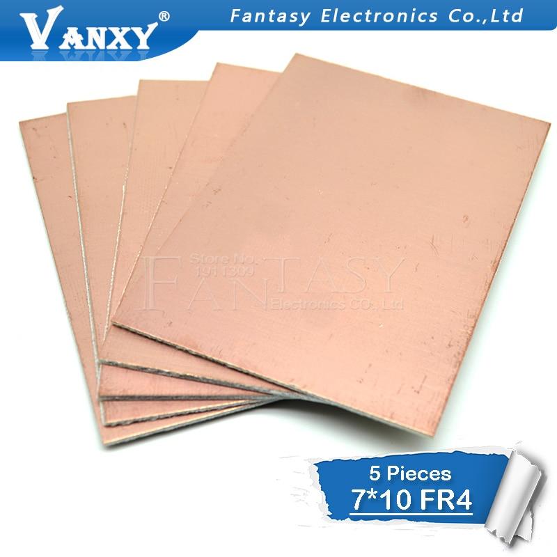 5pcs FR4 PCB 7x10cm 7*10 Single Side Copper Clad Plate DIY PCB Kit Laminate Circuit Board
