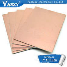 5pcs FR4 PCB 7x10cm 7*10 Single Side Copper Clad plate DIY PCB Kit Laminate Circuit Board(China)