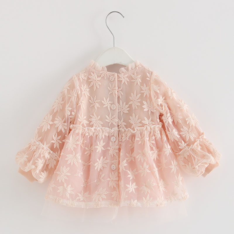 Image 2 - Baby Girls Infant Dress&clothing Autumn Chinese Style Embroidery Lantern Sleeve Kids Party Birthday Outfits Christening 3ColorDresses   -