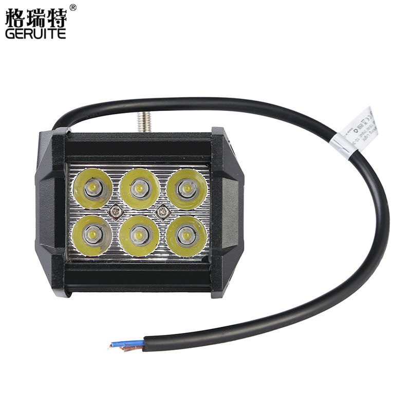 18W LED Car Motorcycle Headlight Bar Truck Tractor Boat Off Road Head Light Lamp Motorbike Driving Lights