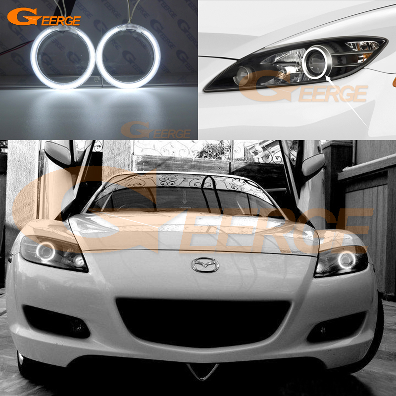 For Mazda RX8 RX-8 2004 2005 2006 2007 2008 Excellent CCFL Angel Eyes Ultra bright illumination angel eyes kit Halo Ring