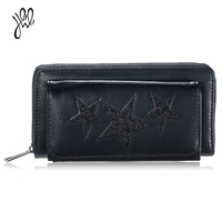 Women Wallets Famous Brand Fashion Star Wallets High Quality Long Zippe Dollar Price Quality Women Female
