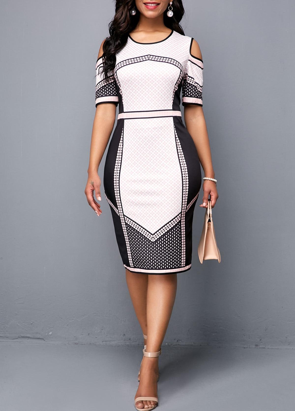 Office Lady Pencil Dress Women