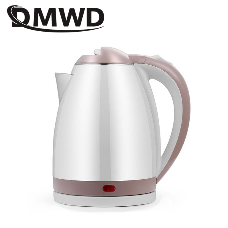 DMWD Stainless Steel Electric Kettle 1.8L 1500W Auto Power-Off Quick Hot Water Heating Boiler Tea Boiling Pot Heater EU US Plug