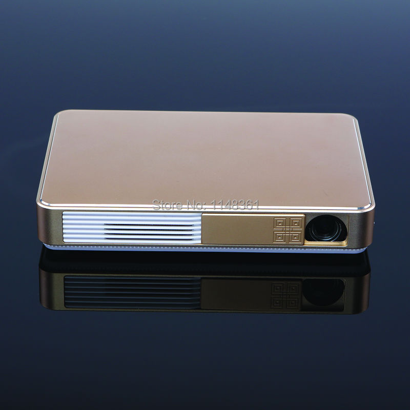 Nueva 4 K WiFi 5600 Lúmenes DLP 13600mA Android4.4 3D Inteligente Proyector Ful