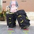 Maleta de viaje impermeable de alta capacidad, bolsa de tela Oxford para equipaje rodante, maleta con ruedas para mujer, caja de 27