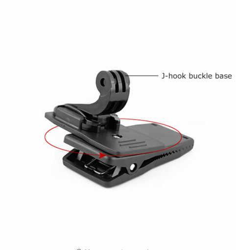 Зажим для быстрой фиксации градусов вращения рюкзак шляпа 360 + J-hook Пряжка база для Gopro Hero 4 3 + 3 2 SJCAM для Xiaomi yi камеры