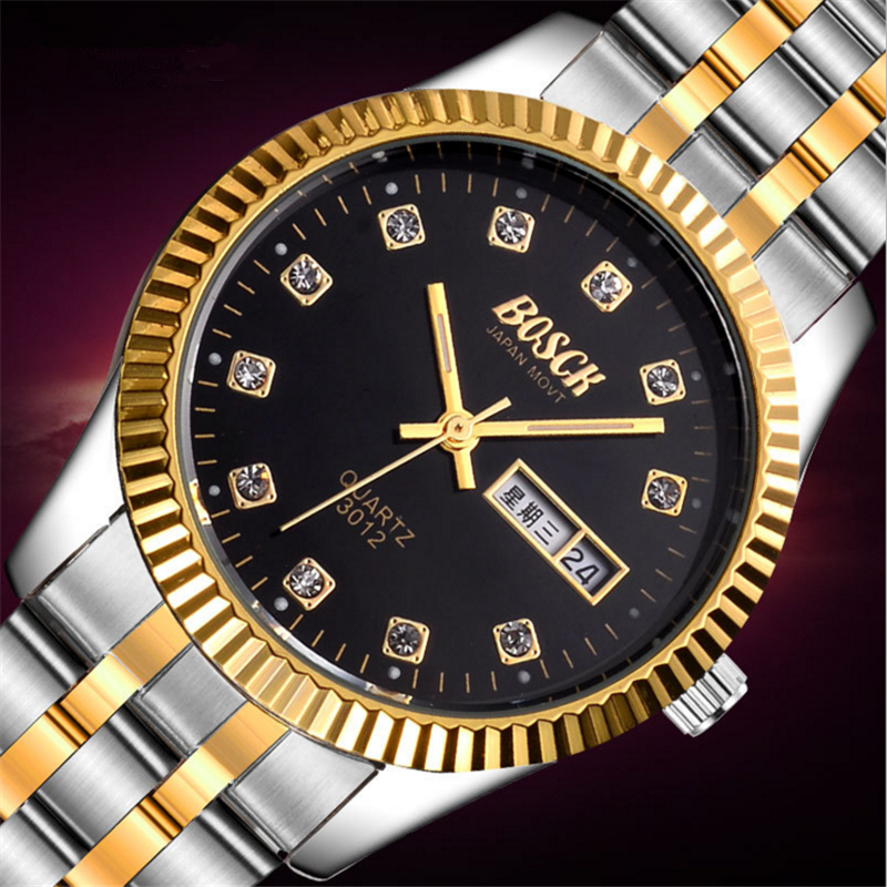 Relogio feminino Fashion Women Crystal Stainless Steel Analog Quartz Wrist Watch Bracelet for dropshipping women s fashion analog quartz bracelet watch orange bronze multi color 1 x 626