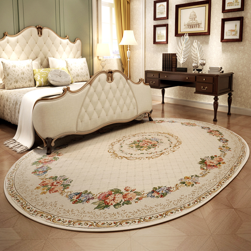 Pastoral Oval Carpets For Living Room Home Bedroom Rugs