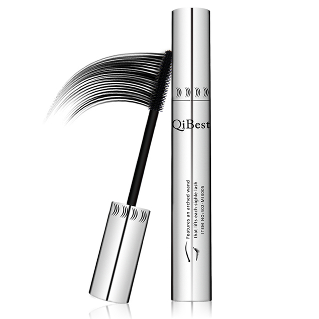 Black mascara 4d thick and long eye mascara waterproof silver tube silicone brush mascara professional cosmetics 2