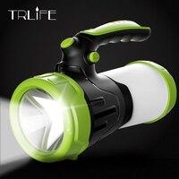 USB Working Lamps Searchlight Built in 2*26650 Torch Portable Lantern Waterproof Hunting Light 6000mAh Led Flashlight Lamp