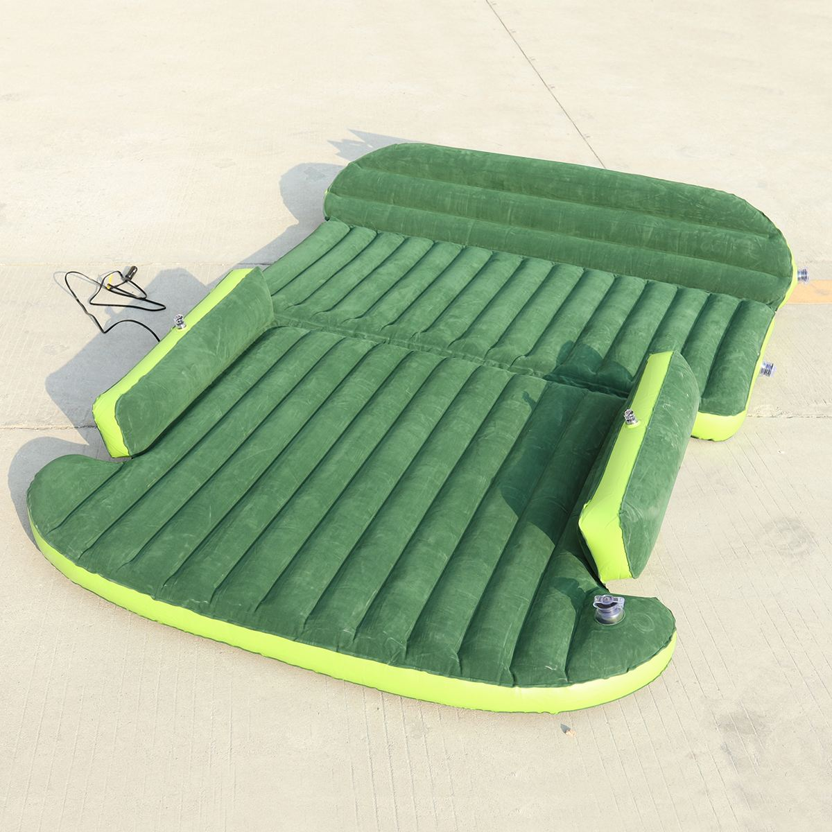 Car Travel Bed Inflatable Mattress SUV Bed Camping Back Seat Extended Mattress PVC Flocking Bed For Couples car air mattress travel bed car back seat cover inflatable mattress air bed good quality inflatable car bed for camping khaki