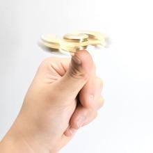 New 10 pcs ADHD Brass Finger Spinner Fidget Top Gyro Steel Ball Bearing Desk Hand Focus Toy Anti Stress for Kids Adults