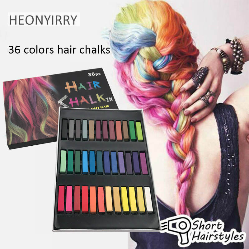 2017 Fashion 24/36 Colors Pins Non-toxic Temporary Pastel Hair Square Hair Dye Color Chalk Hair Styling Tools