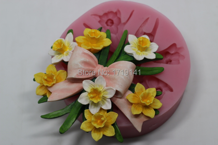 flower bouquet silicone candy chocolate molds on Aliexpress.com ...
