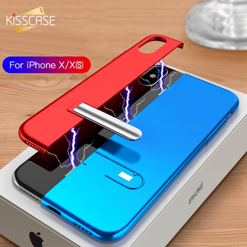 a1a200e7421bea KISSCASE Fashion Case for iPhone X XR XS MAX Metal Magnetic case for iPhone  7 8 plus Back Cover for iPhone 6 6s Stitching Case