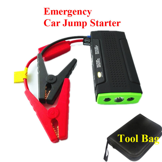 A+ Quality 9900mAh Petrol Diesel 12V Car Jump Starter Mini 400A Peak Jumper Booster Charger 2USB Power Bank SOS Light Free Ship