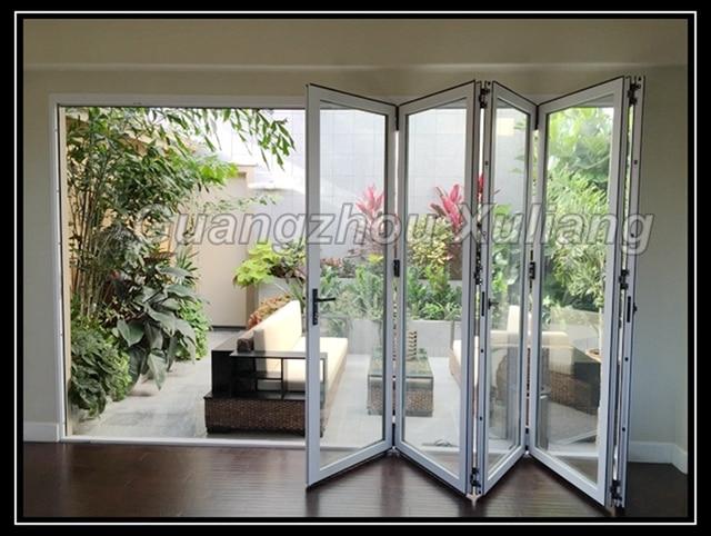 vidrio de aluminio puertas plegables zd70 serie en