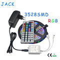 5M RGB 3528 SMD LED Flexible Strip light 60LEDs / M with 44Key IR Remote Controller and DC 12V 3A Power Adapter Home decoration