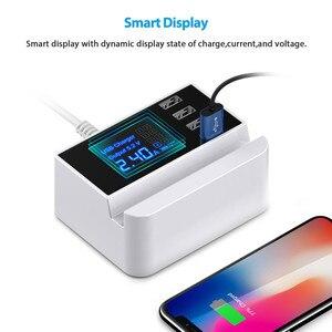 "Image 2 - 4 יציאת USB מרובה מטען רכזת 5 V 4A שולחן עבודה רב USB מטען קיר עבור Smartphone Tablet USB תקע מטען האיחוד האירופי ארה""ב בריטניה"