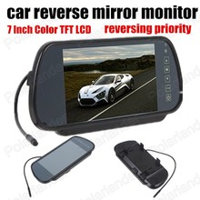High quality 7 Inch 234×480 TFT Color LCD Car Parking Rear View Reverse mirror Monitor For DVD Camera reversing priority