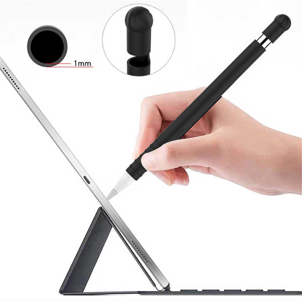 Mới Silicone Mềm Ngòi Bao Tay Bọc Đầu Giá Đỡ Cáp Kết Nối Dây Chống Lạc Cho Bút APPLE 1 iPad Pro