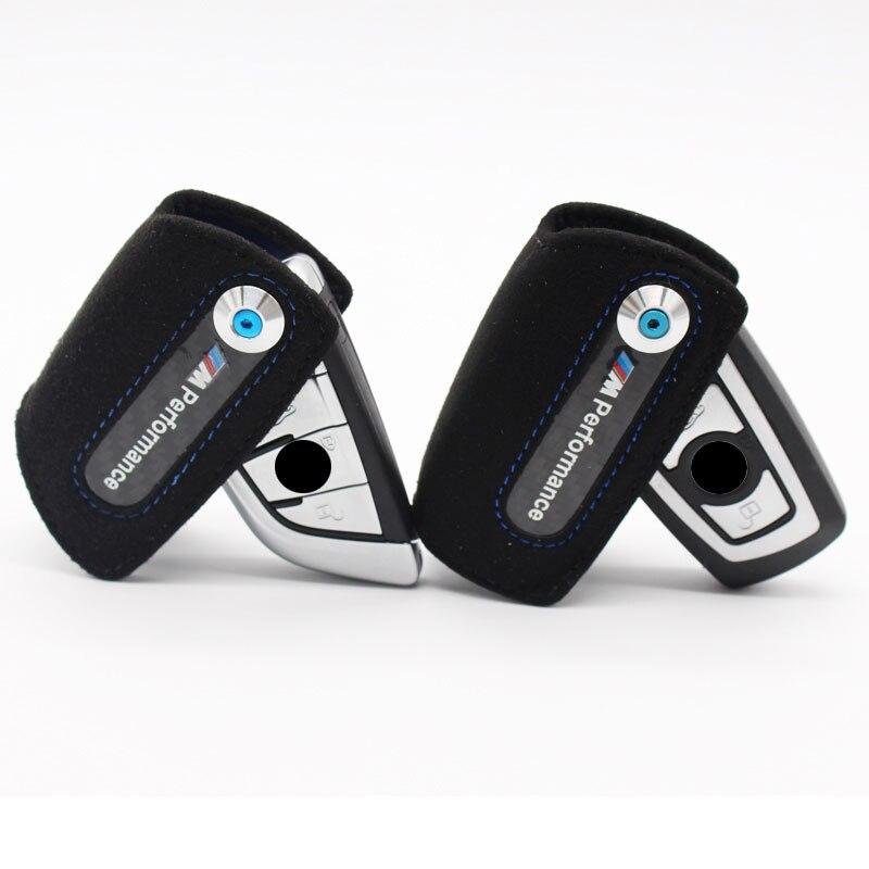 Genuine Leather Key Case For BMW Key Case F20 F30 F11 F07 F80M3 F21 F10 X5 X6 3 5 Series For Bmw F30 M Performance Key Cover leather key case cover for bmw e46 e39 e90 f10 f20 f30 x1 x3 x4 x5 x6 116i 118i m1 m3 m5 key case for bmw key cover car sticker