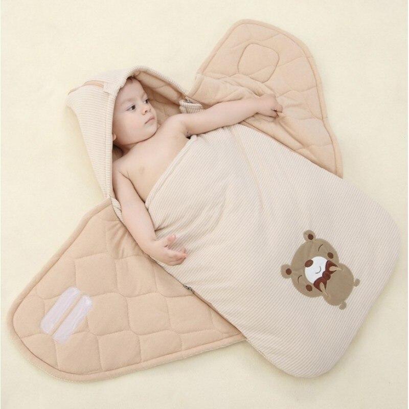 Newborn Sleeping Bag Winter Envelope For Infant Toddler Baby Swaddling Zipper Bedding Blanket Cotton Kids Sleep Sack B4