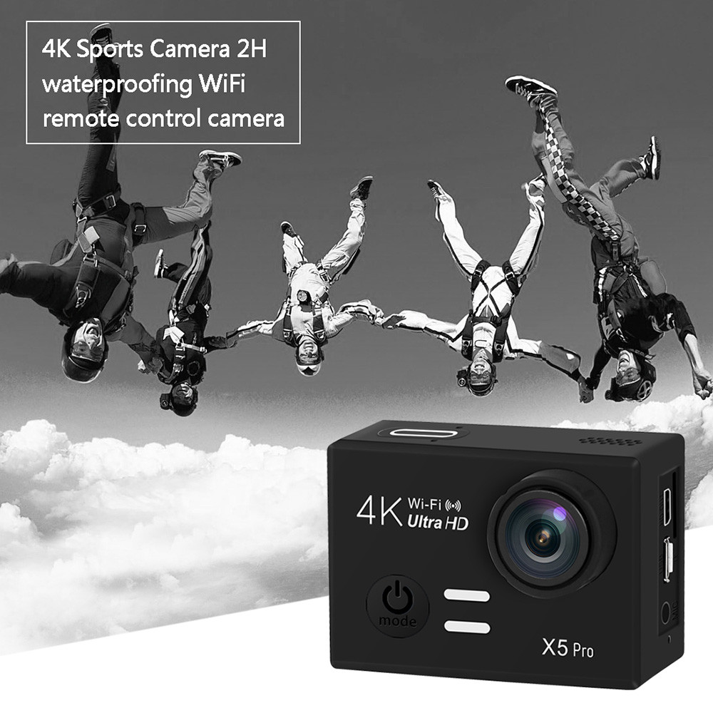 X5 Pro 4K Full HD 1080P Sport Camera WiFi Action Camcorder action cam underwater waterproof Helmet Cam car mode recorder apeman action camera a77 4k 1080p waterproof action cam pro wifi sport helmet video camera with hd camcorder remote control