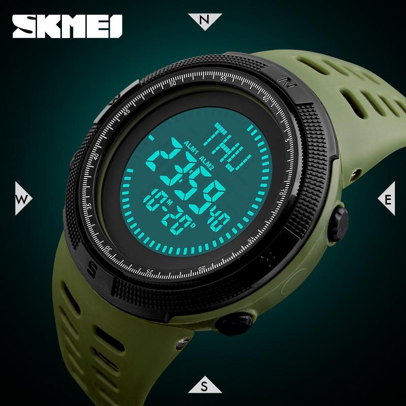 Digital Watches Watches Zk30 Compass Outdoor Sports Watches Men Countdown Chronograph Alarm Watch Waterproof Digital Wristwatches Relogio Masculino 1300