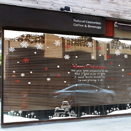 arge Christmas glass window font b wall b font sticker font b decal b font home