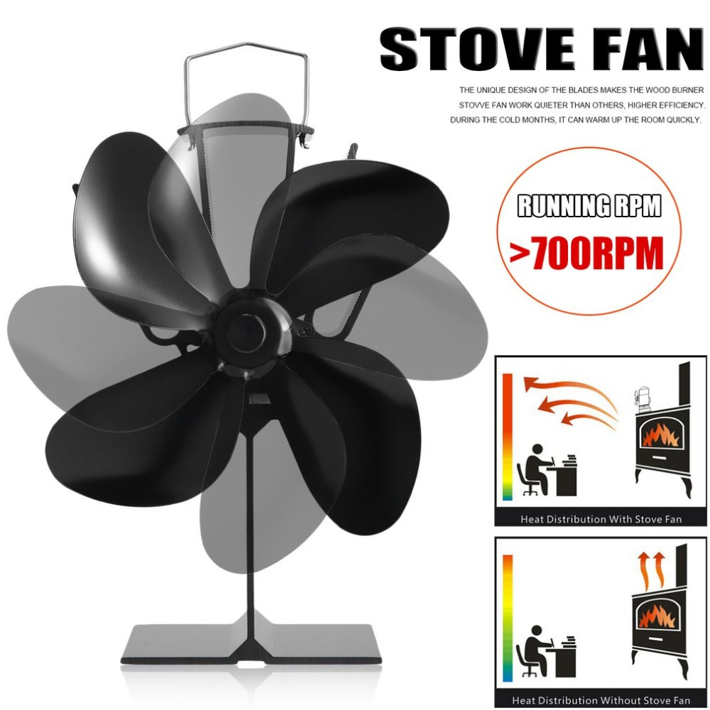 Newest EQ-4BK 4 Blade Heat Powered Stove Fan Eco Friendly Fuel Saving Fireplace Fan Universal Wood Burner Home AccessoriesNewest EQ-4BK 4 Blade Heat Powered Stove Fan Eco Friendly Fuel Saving Fireplace Fan Universal Wood Burner Home Accessories