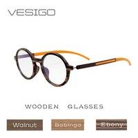 Wooden glasses frame Men Women Handmade Wood optical frame round Design Retro style super light eyeglasses pure wood 01201L