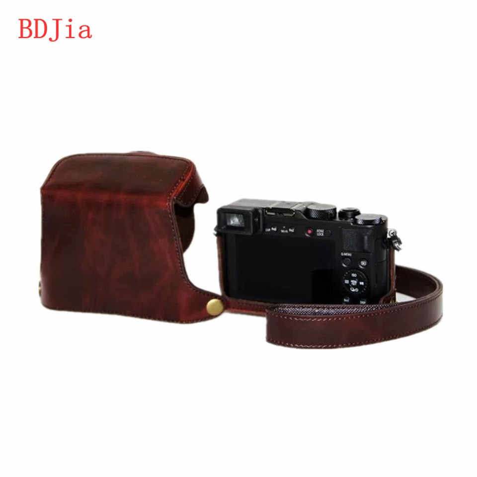 Новый чехол из искусственной кожи для камеры Panasonic Lumix LX100 с плечевым ремнем, черный/кофейный/коричневый/красный/белый, Бесплатная доставка